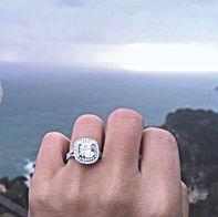 Cushion cut diamond Engagement ring, Engagement ring specialist london