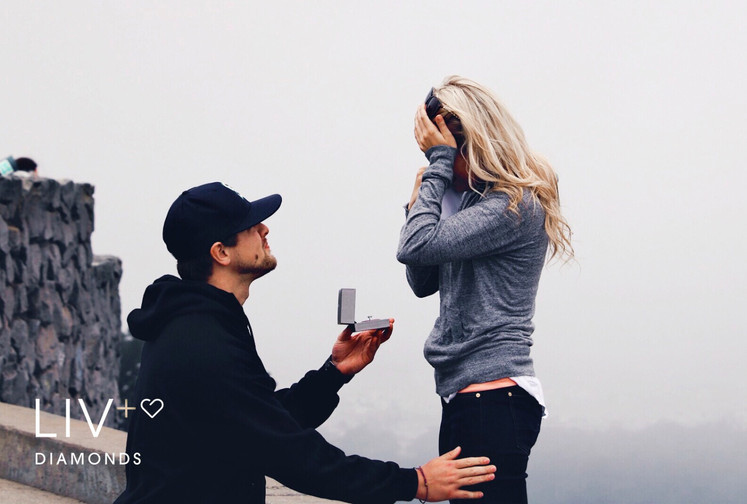 Surprising-her makes you heroic - 'not' going together! Propose like a hero.