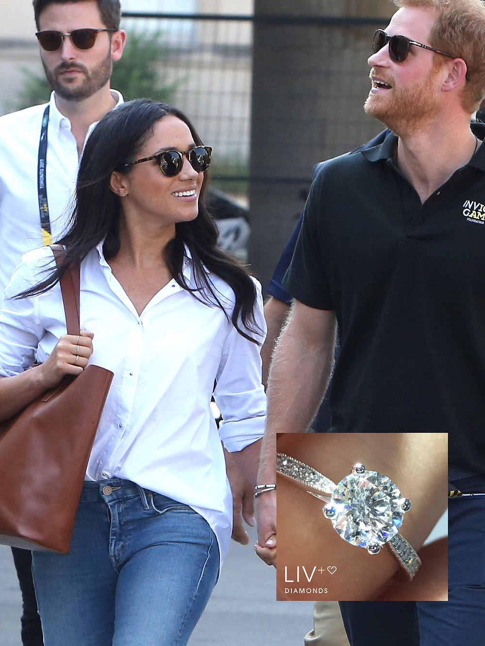 Our take on a stunning ring to suit Ms Markle