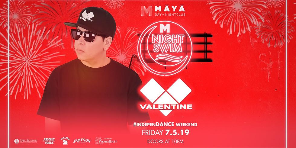 Maya Night Swim with Valentine