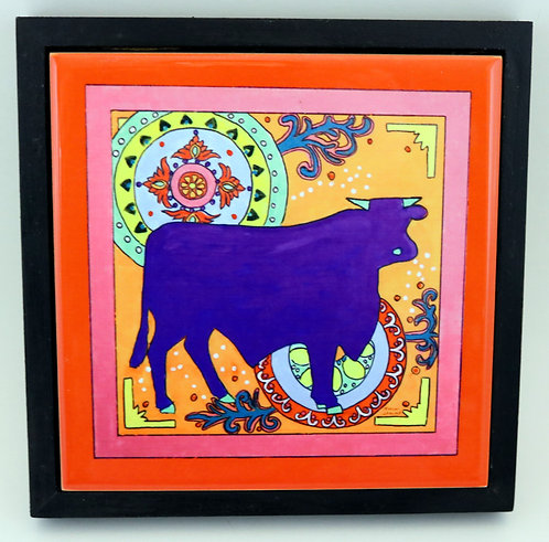Mexican Folk Art Bull Trivet or Wall Art