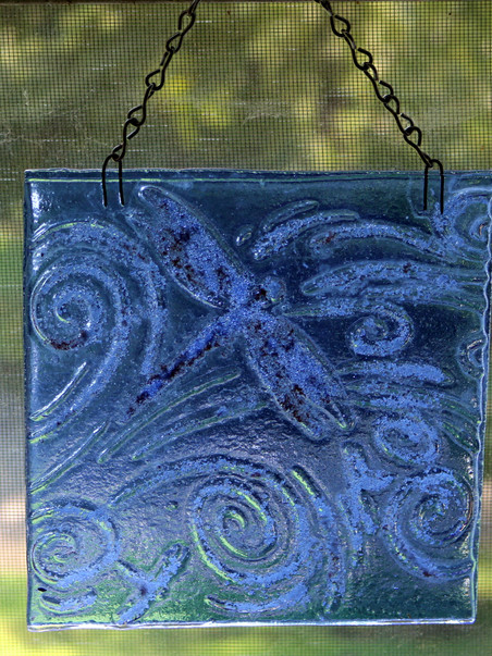 Fused  Glass Suncatcher