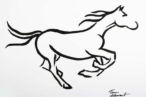 Horse Contour Line Painting