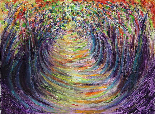 "Abstract Forest ""Tunnel of Trees"" Limited Edition Print"