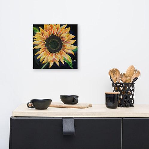 Acrylic Sunflower Painting Wall Art Print on Canvas