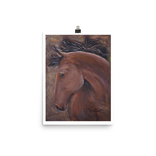 Bay Horse Head Print