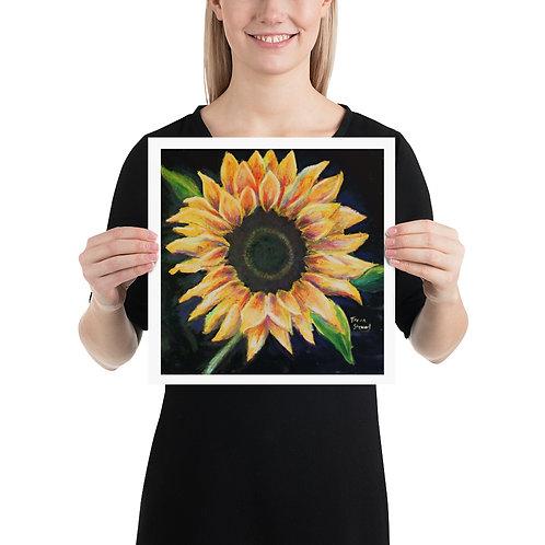 Acrylic Sunflower Painting Wall Art Print