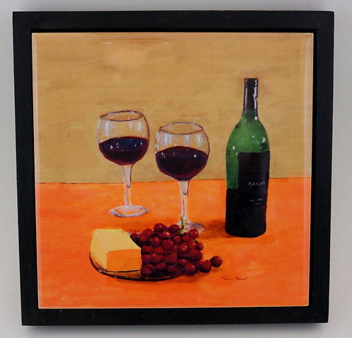 Red Wine Trivet or Wall Art