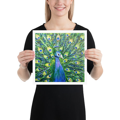 Peacock Fine Art Print Wall Art