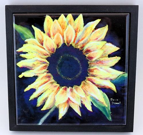 Sunflower Trivet or Wall Art