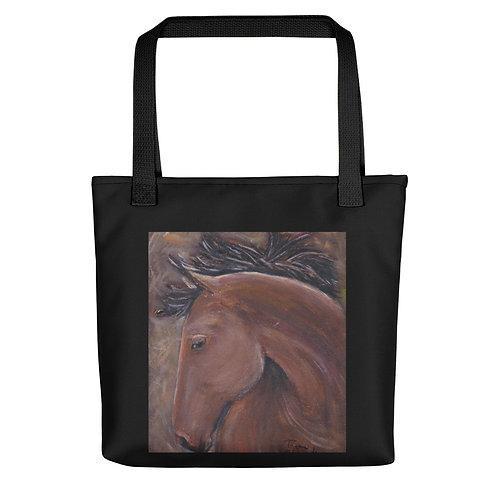 Bay Horse Head Tote Bag