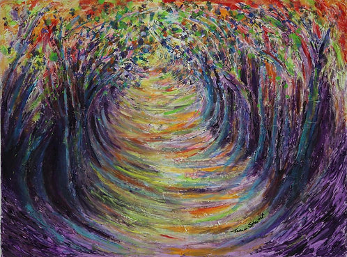 "Abstract Forest, ""Tunnel of Trees,"" Art Print 8 x 10 1/2"