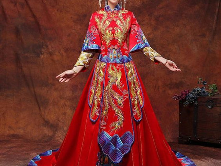 Tenue de mariage chinoise traditionnelle