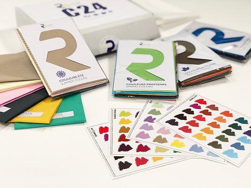 Kit draping 24 couleurs + nuancier 4 saisons B +cape