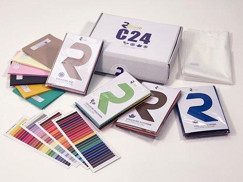 Kit draping 24 couleurs + nuancier 4 saisons A +cape