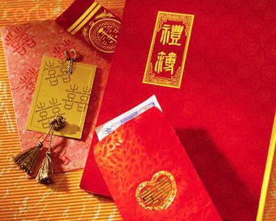 le cadeau traditionnel du mariage chinois...