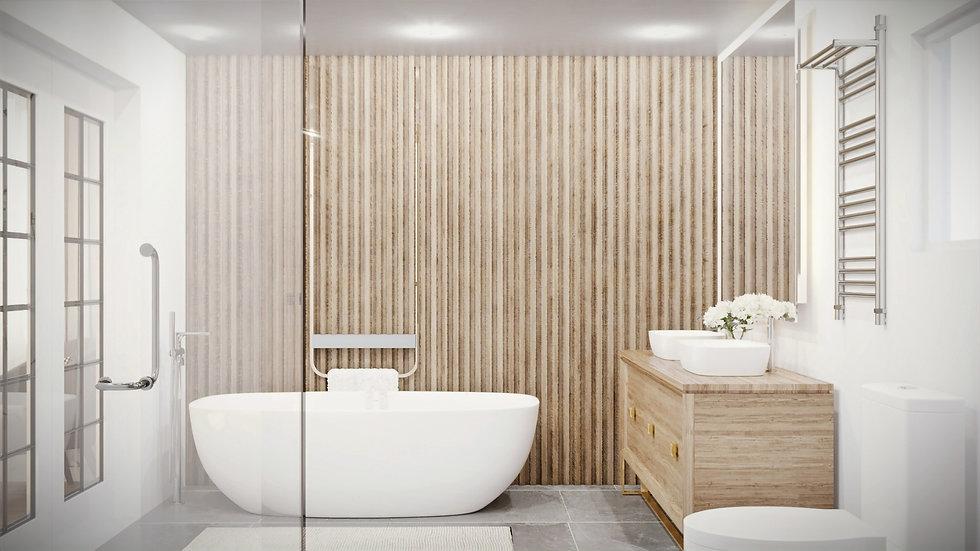 3D Visualization Bathroom - Ranch House