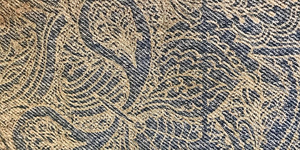 Laser etch and embroider a denim bag with a mandala design (1)