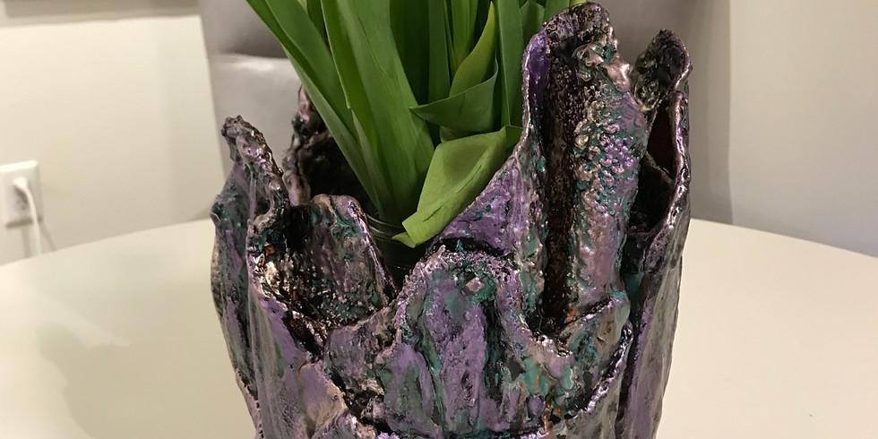 Art & Craft Weekly - Cement Flower Pot