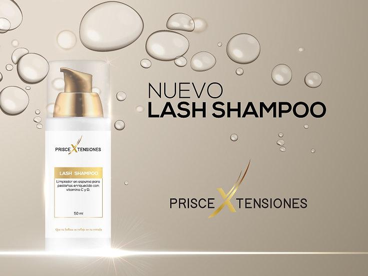 Lash shampoo con vitamina C y D.