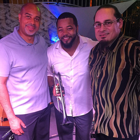 With Steve Turre and Dion Parson