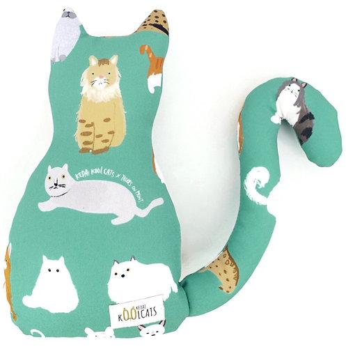 Kedai Koolcats x Troops on Print (Turquoise) - Kitten Cushion