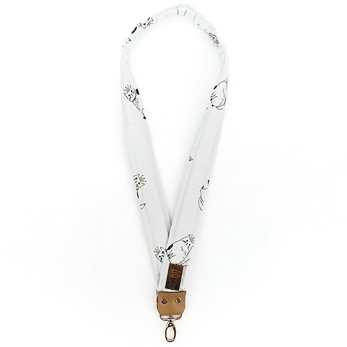 Lanyard in Cats on Pale Blue