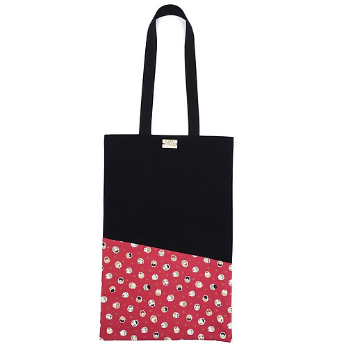 Tote Bag in Round Cats on Pink