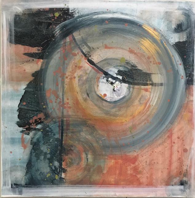 Geologic Clock 1 - 24x24 - available