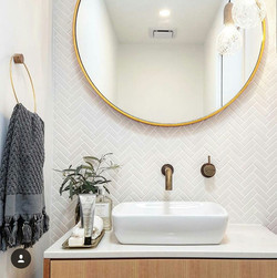 Kingborough house powder room vanity