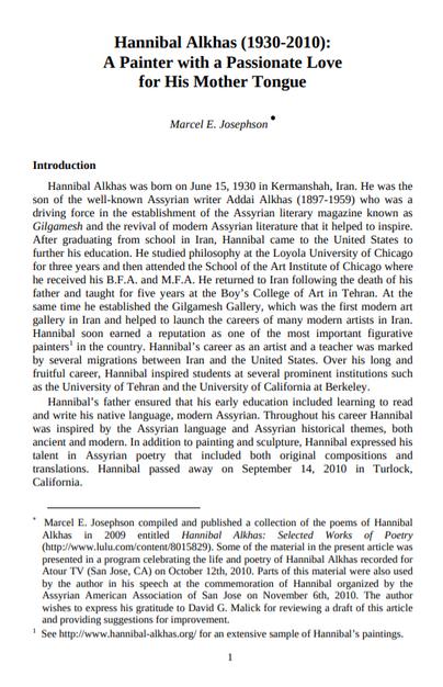 Hannibal Alkhas - JAAS Article