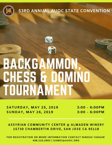Backgammon, Chess & Domino Tournament