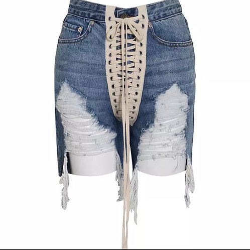 Real fly girl denim shorts
