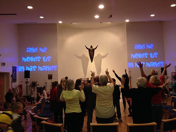 worship during messy church