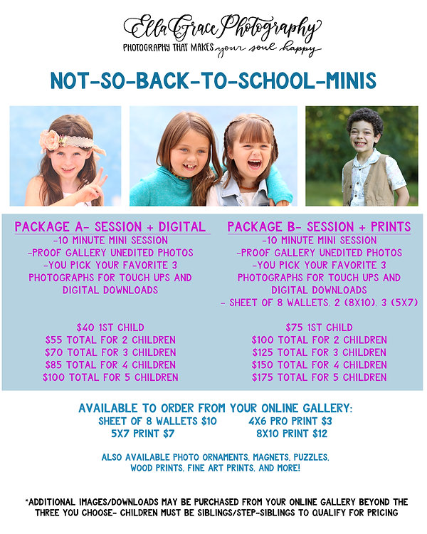 Pricing List -Flyer Not So Back To Schoo