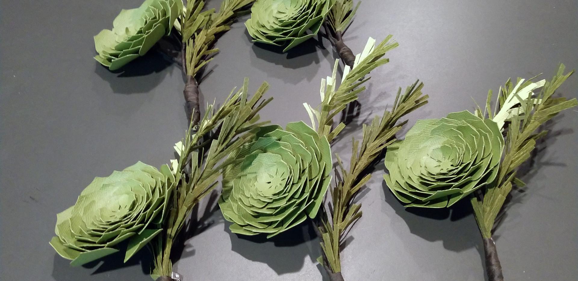 Succulent Group Boutonnière
