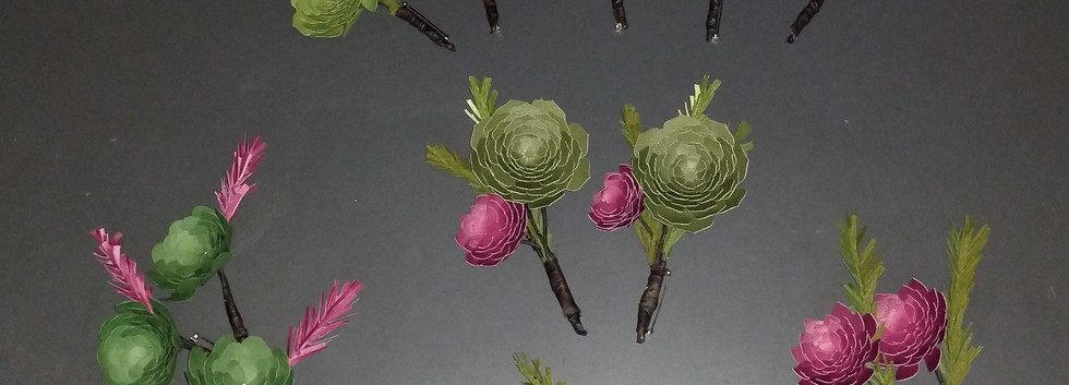 Wedding Party Boutonnières and Corsages