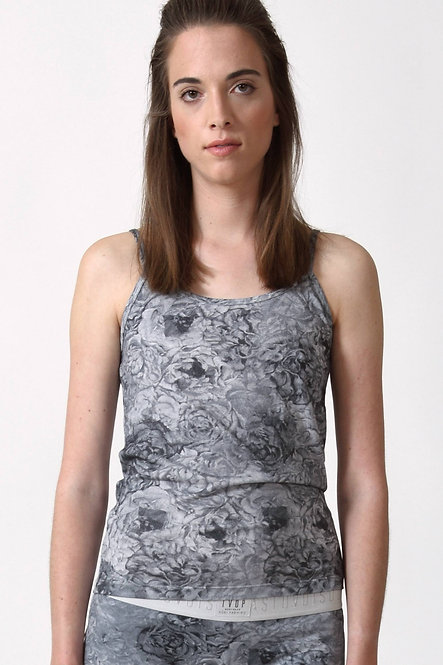 Singlet Top - Gray Floral - Retail CHF 55.90