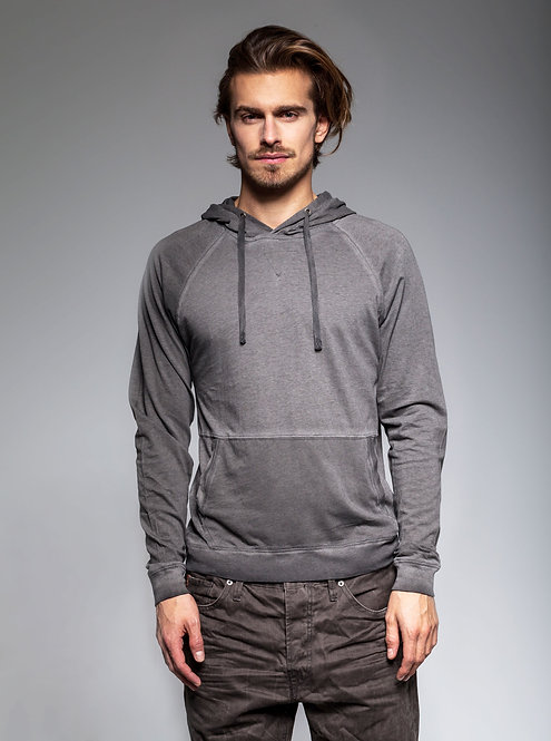 MENS LIGHT COTTON HOODIE Graphite Candy