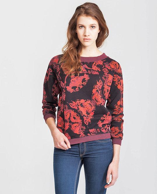 Women's Raglan Sweater - baltic.black.aquarel