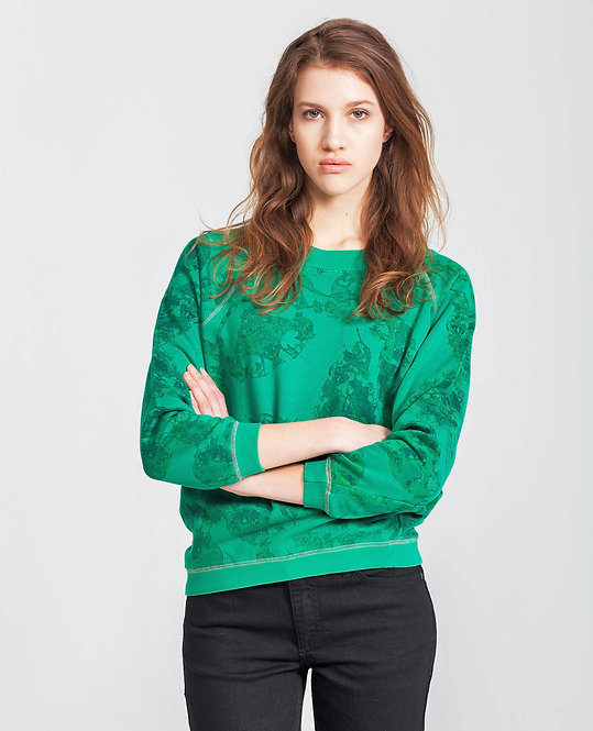 Women's Raglan Sweater - emerald.aquarel