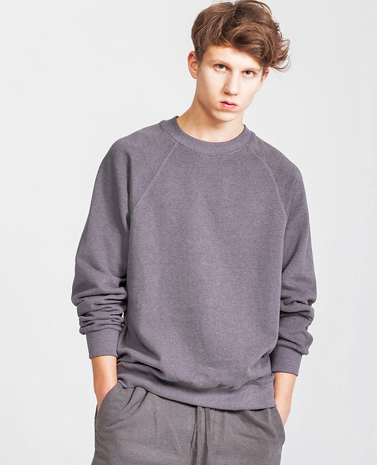 RAGLAN SWEATER in Purple Htr - Retail CHF 119.00