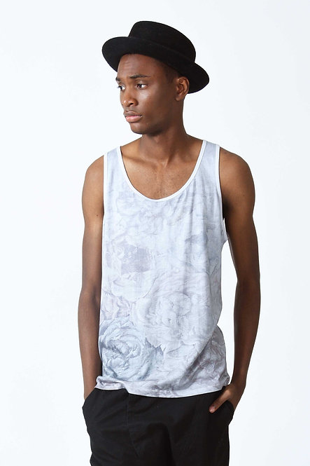 Floral Tanktop Faded Ash