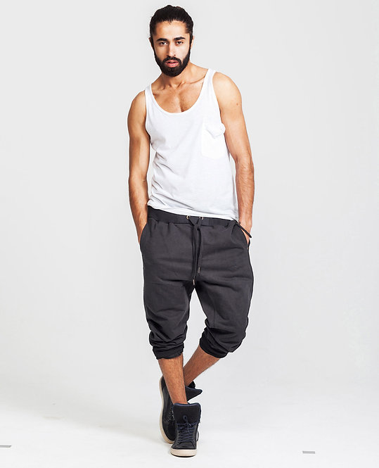 MENS SWEAT PANTS in Solid Black
