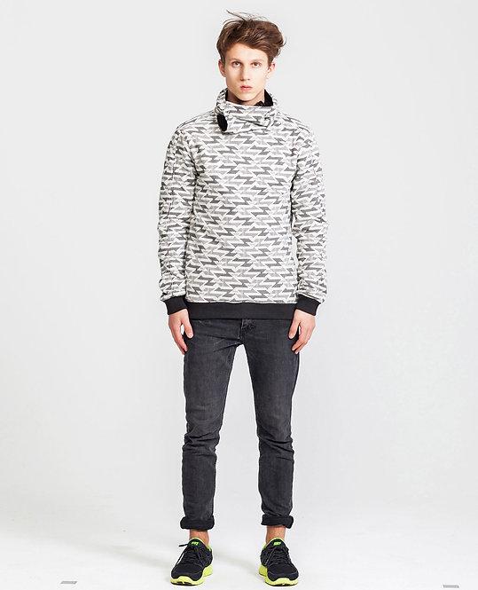 Men's Reversible Wrap.Up Hoodie in Black&White *Slim Cut*