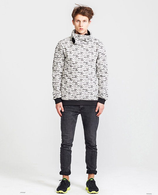 Men's Reversible Wrap.Up Hoodie in Black/White - Retail CHF 139.00