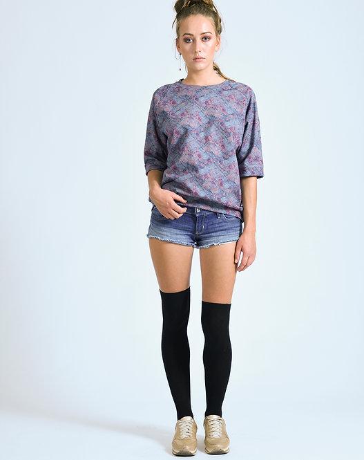 Y-TVOP Turquoise/Pink Japanese Raglan Sweater Sq2 Aqua Print