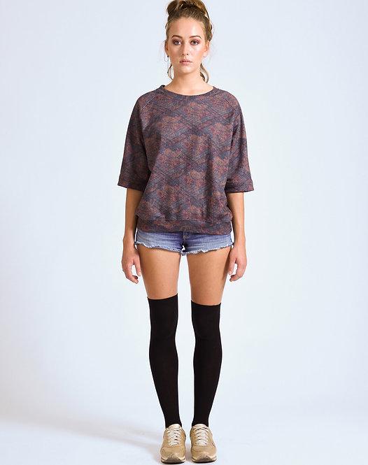 Y-TVOP Brown Japanese Raglan Sweater Sq1 Earth Print