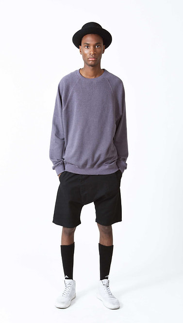 MENS RAGLAN SWEATER - Purple Htr