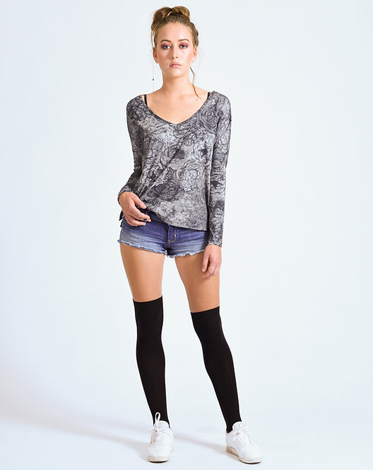 Floral Wide Top Slate Gray - Retail CHF 79.00